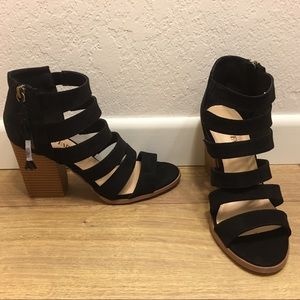 Black and Brown Strappy Just Fab Booties